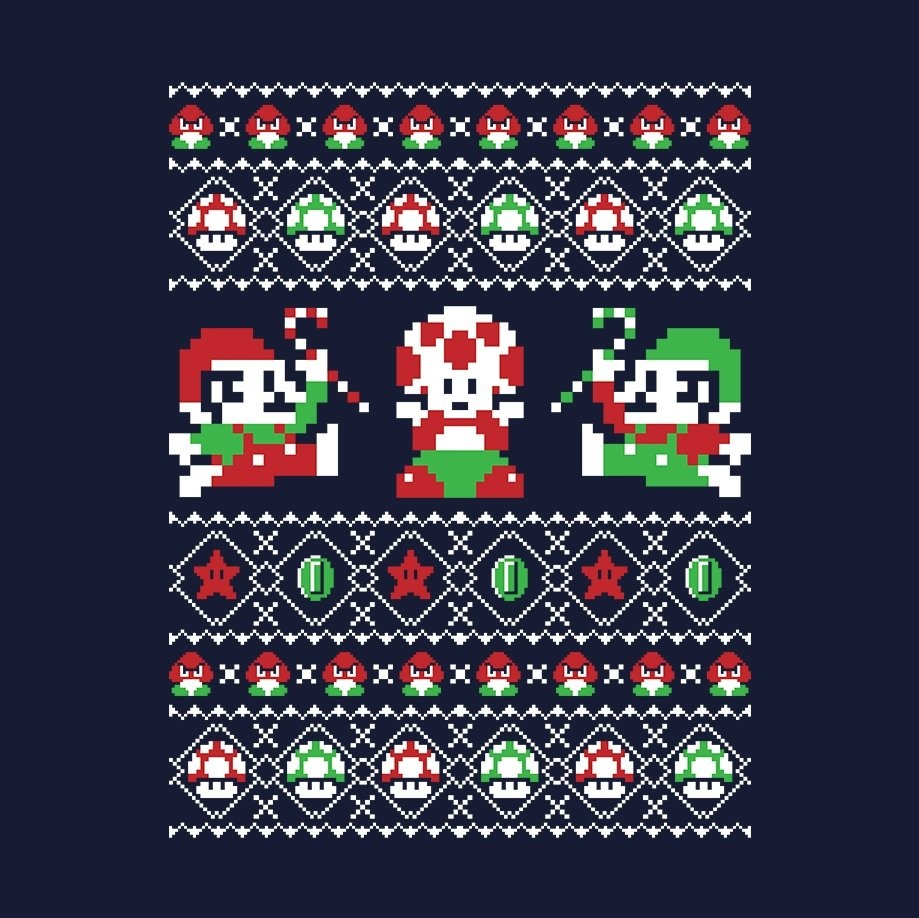 Super Mario Bros Christmas Sweater T-Shirt