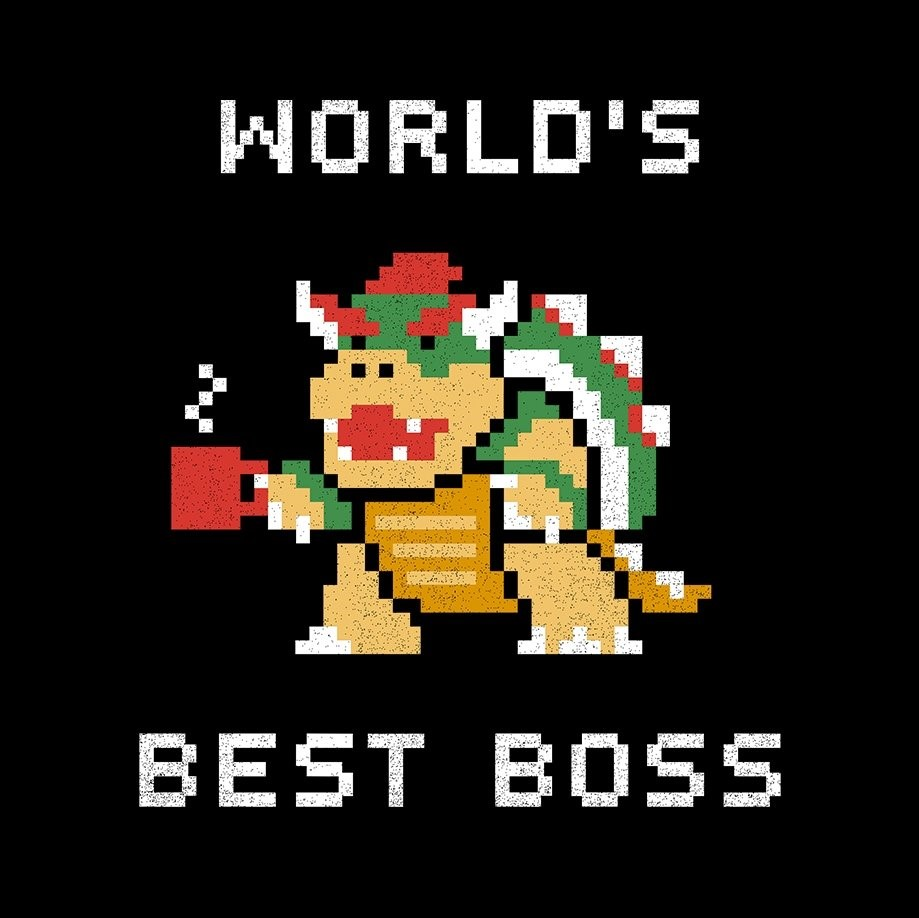 World's Best Boss Bowser Super Mario Bros T-Shirt