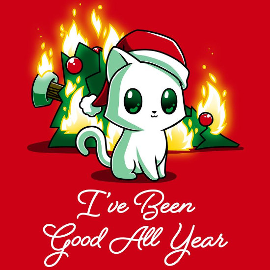 I've Been Good All Year Cat T-Shirt