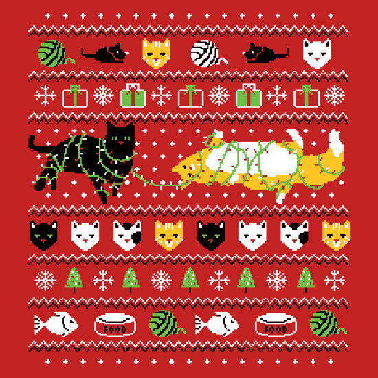 Ugly Cat Christmas Sweater T-Shirt