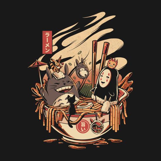 Miyazaki Ramen Noodle Soup T-Shirt
