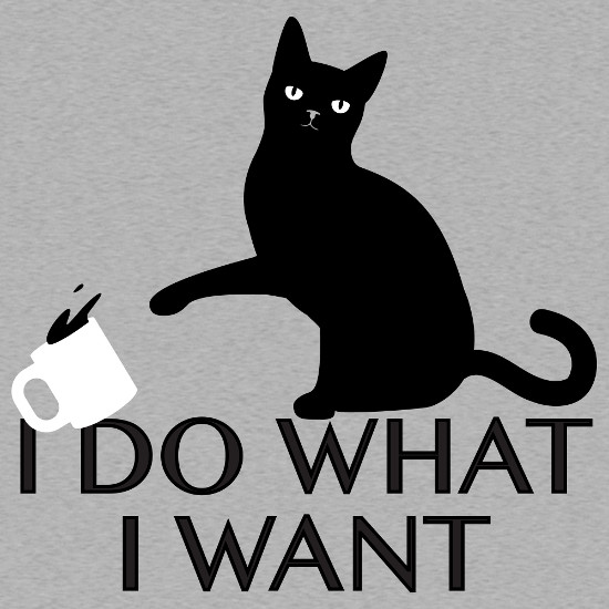 I Do What I Want Cat T-Shirt