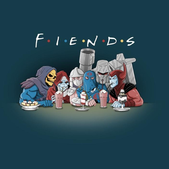 Fiends Cartoon Supervillain Friends T-Shirt