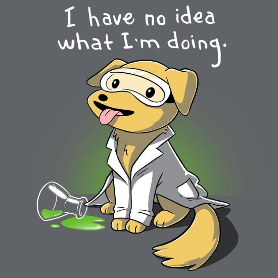 I Have No Idea What I'm Doing Scientist Dog T-Shirt