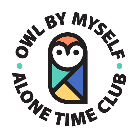 Owl By Myself Alone Time Club T-Shirt