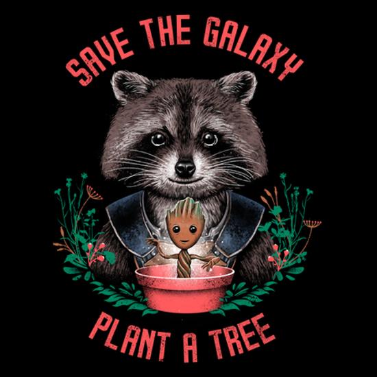 Save the Galaxy Plant a Tree Rocket Raccoon Groot T-Shirt