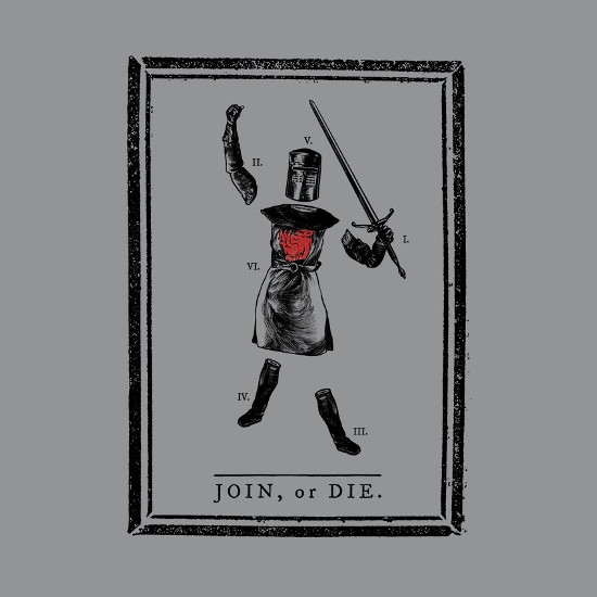 Join or Die Black Knight Monty Python and the Holy Grail T-Shirt
