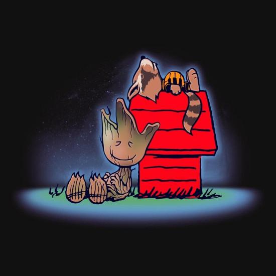 Friends of Galaxy Peanuts Guardians T-Shirt