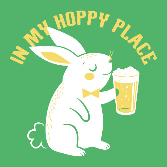 In My Hoppy Place Bunny Beer T-Shirt