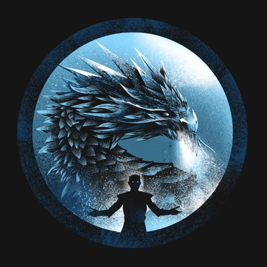 Night King Ice Dragon Game of Thrones T-Shirt