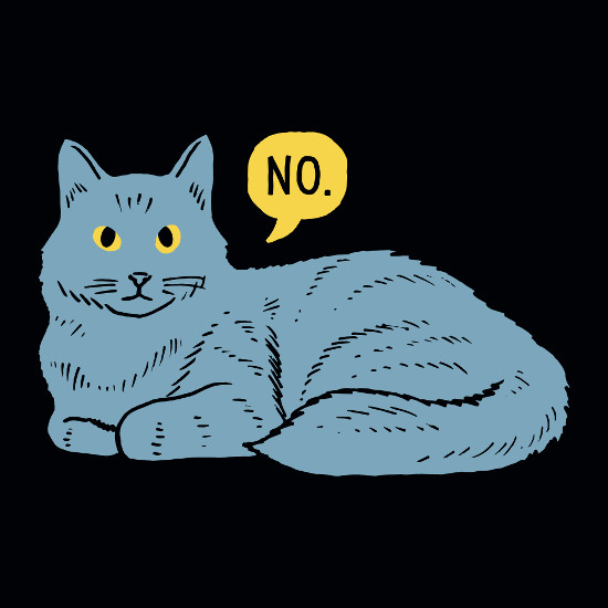 Cat Says No T-Shirt