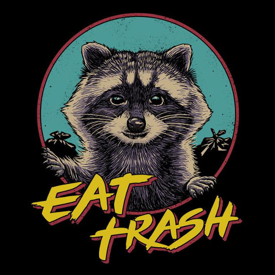 Eat Trash Retro Raccoon T-Shirt