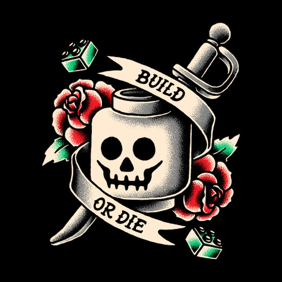 Build or Die Lego T-Shirt
