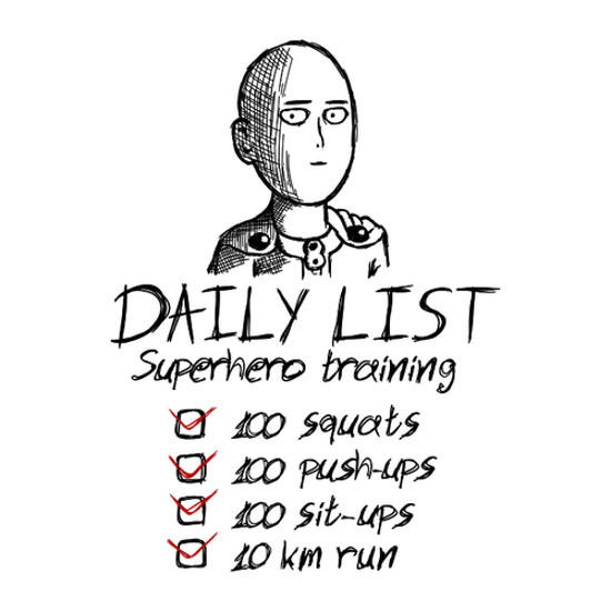 One Punch Man Daily List T-Shirt