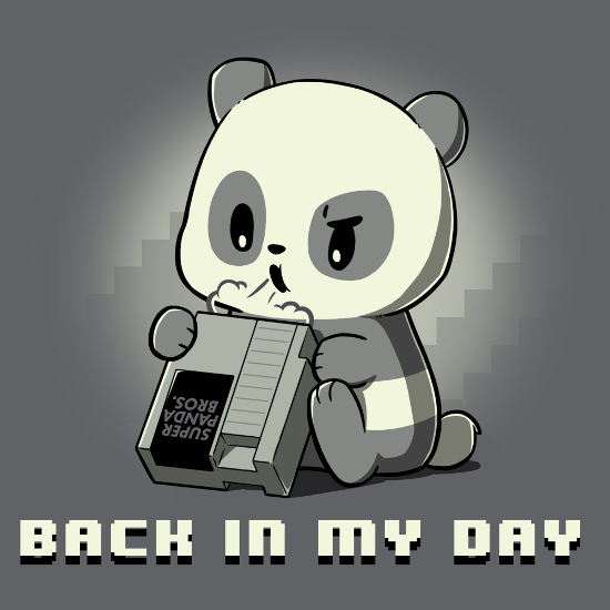 Back in My Day Nintendo Panda T-Shirt