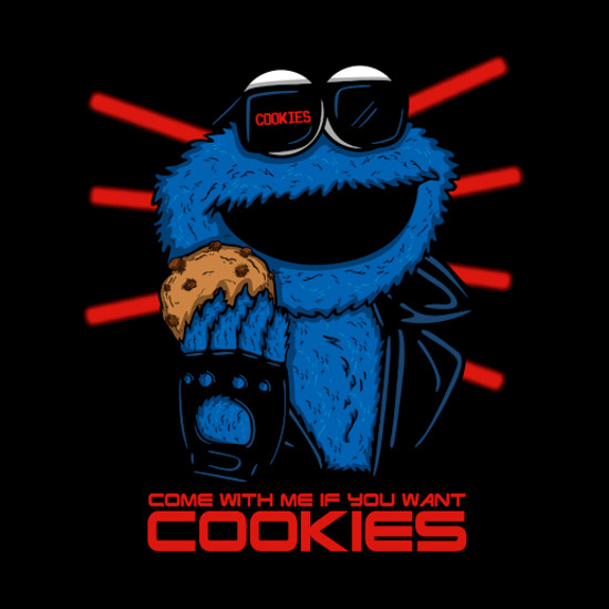 Cookienator Cookie Monster Terminator T-Shirt