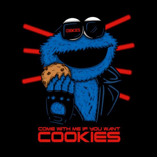 Cookienator Cookie Monster Terminator T-Shirt