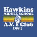 Hawkins Middle School A.V. Club 1984 Stranger Things T-Shirt