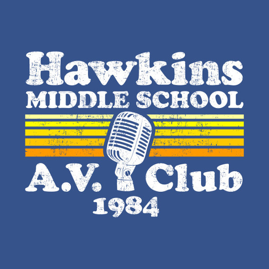 Hawkins Middle School A.V. Club 1984 Stranger Things T-Shirt