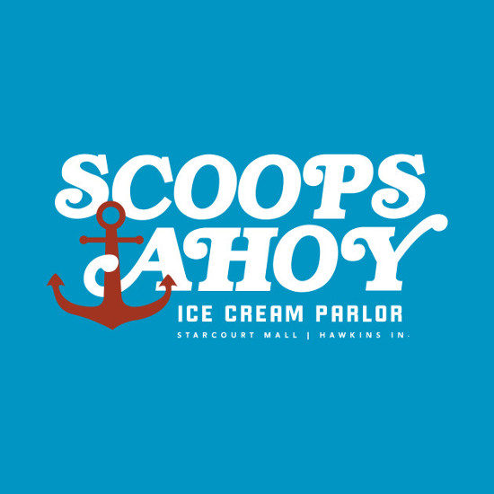 Scoops Ahoy Ice Cream Parlor Stranger Things T-Shirt