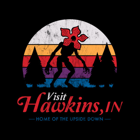 Visit Hawkins Stranger Things Retro T-Shirt