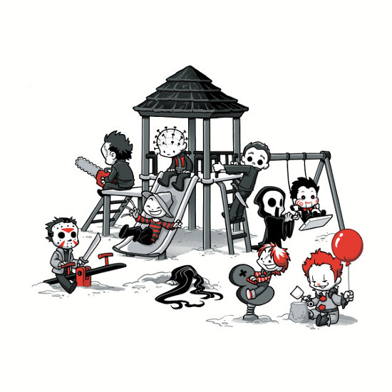 Horror Movie Kids in the Park T-Shirt