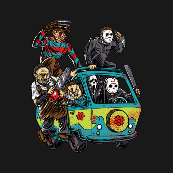 Massacre Machine Horror Mystery Machine T-Shirt