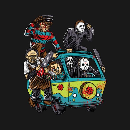 Massacre Machine Horror Mystery Machine T-Shirt