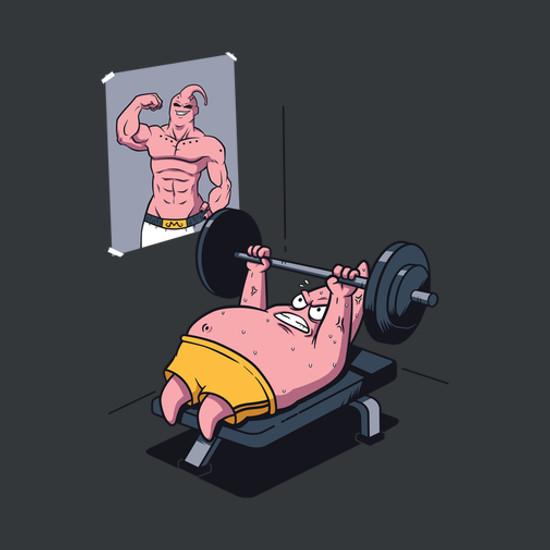 Push Your Limit Patrick Workout Spongebob T-Shirt