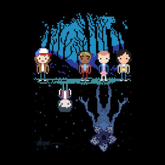 Stranger Things Pixel 8-Bit T-Shirt
