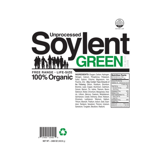 Unprocessed Soylent Green Label T-Shirt