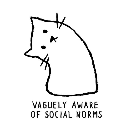 Vaguely Aware of Social Norms Cat T-Shirt